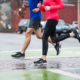 couple running in cold