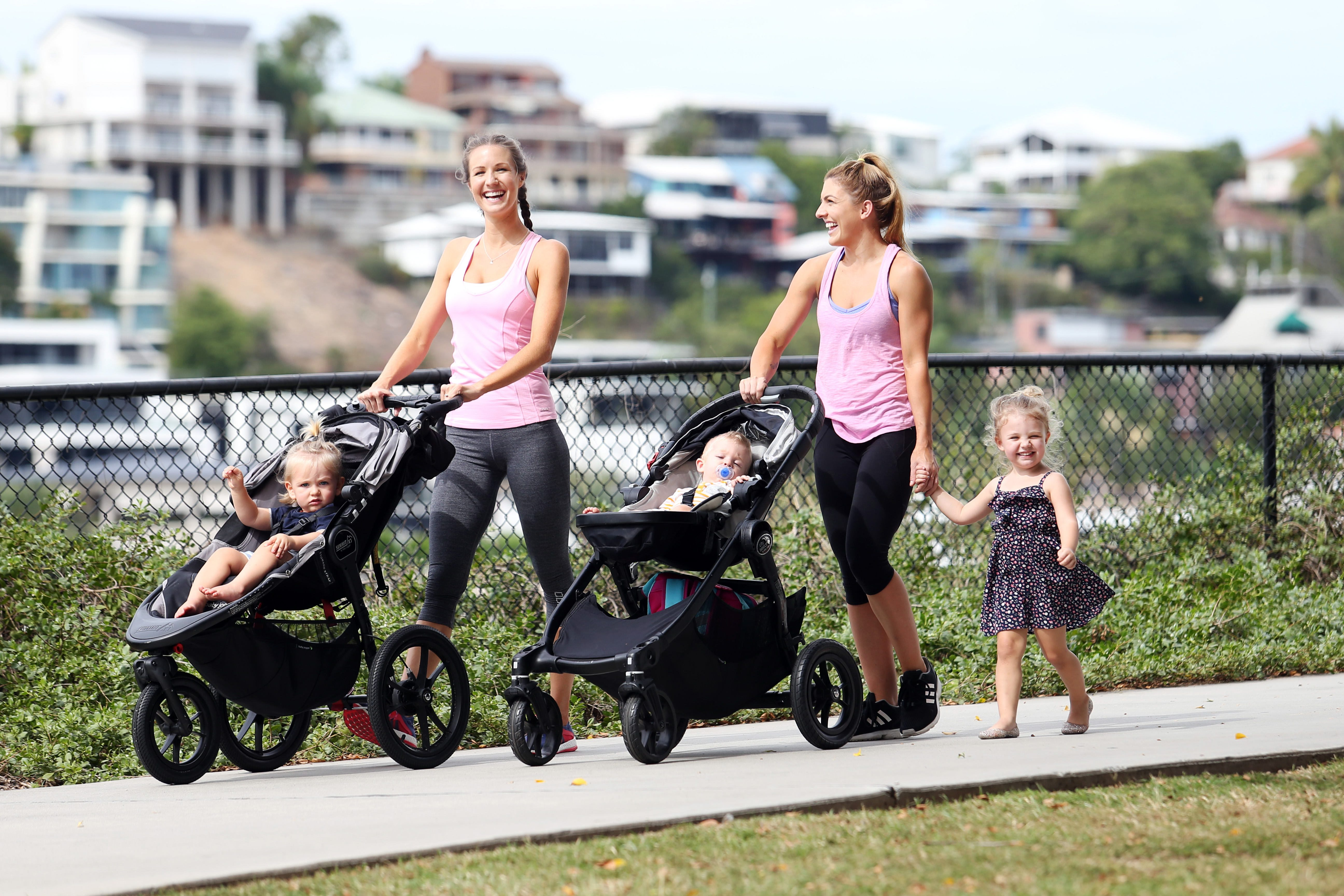 mums-walking-with-kids-in-prams